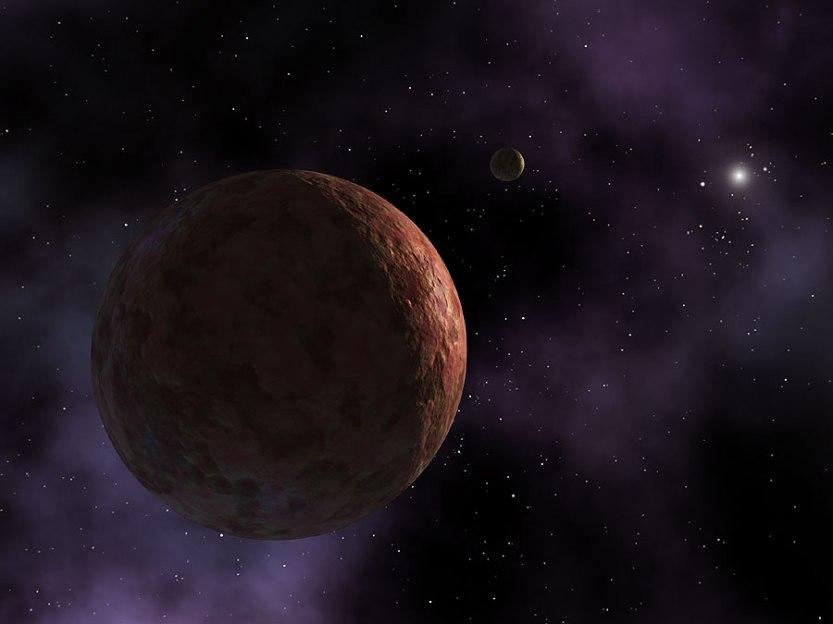 Concepção artística de Makemake. Créditos: NASA