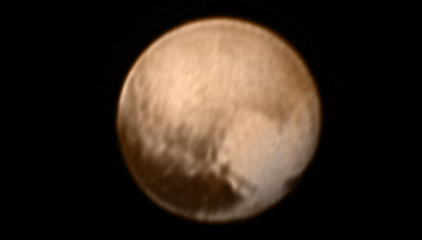 Imagem obtida pela sonda New Horizons