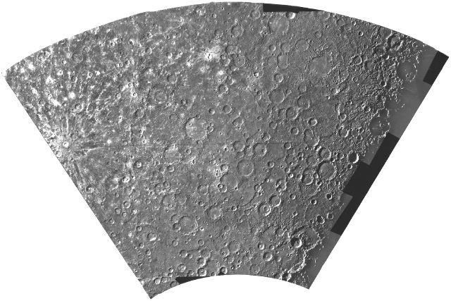 Quadrângulo da Descoberta:Mosaico do Quadrângulo da Descoberta de Mercúrio. (Cortesia NASA/JPL)