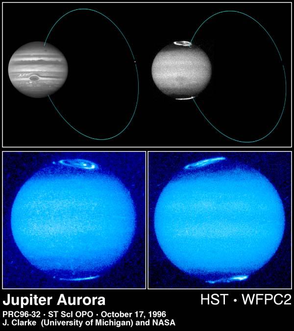Créditos: John T. Clarke e Gilda E. Ballester (Universitdade de Michigan), John Trauger e Robin Evans (Jet Propulsion Laboratory) e NASA.