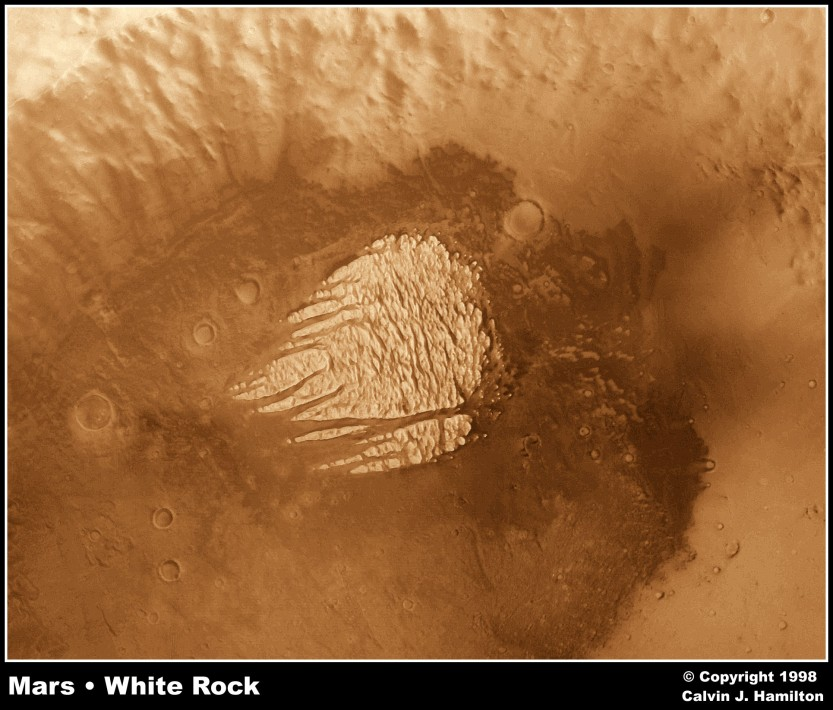 White Rock - Mars Copyright 1998 by Calvin J. Hamilton