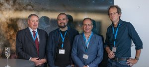 On 24 August 2016 at 13:00 CEST, ESO hosted a press conference at its Headquarters in Garching, near Munich, Germany. Seen in this picture, from left to right:Dr. S. Pete Worden, Dr. Guillem Anglada-Escudé, Dr. Pedro J. Amado and Prof. Dr.Ansgar Reiners.